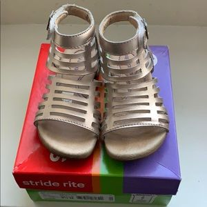 Toddler Girls Stride Rite Gold Gladiator Sandals
